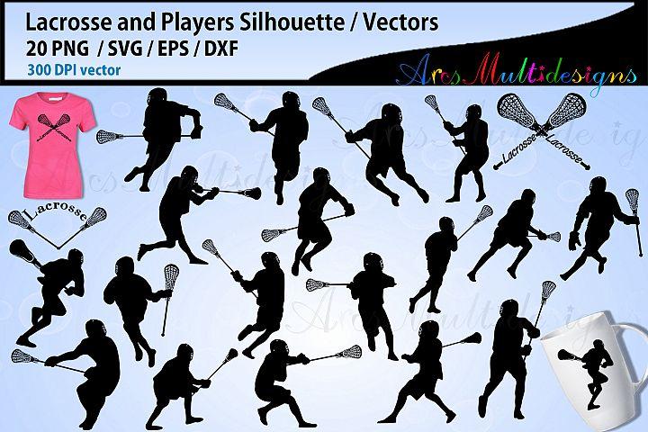 Lacrosse Silhouettes SVG / Lacrosse vector silhouettes