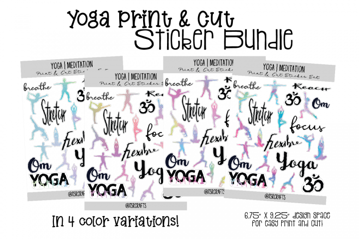 YOGA MEDITATION - Functional Planner Stickers-Rainbow Bundle