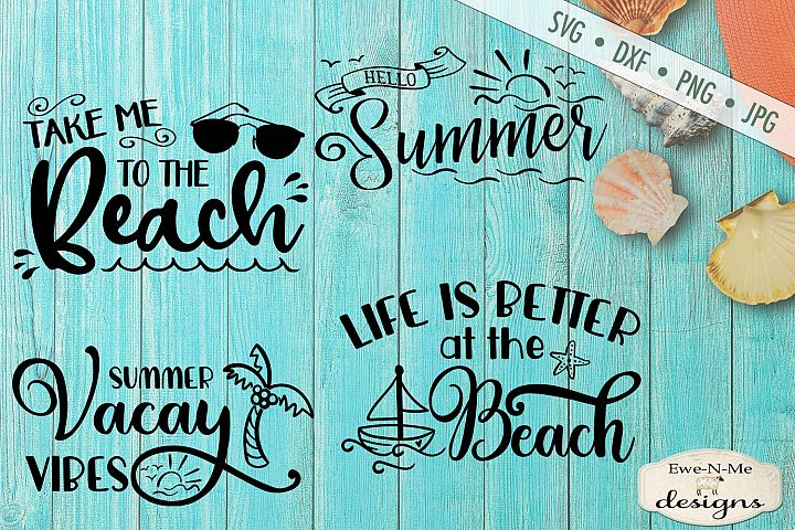 Summer Vacation Mini Bundle - Summer Fun - Beach - SVG DXF