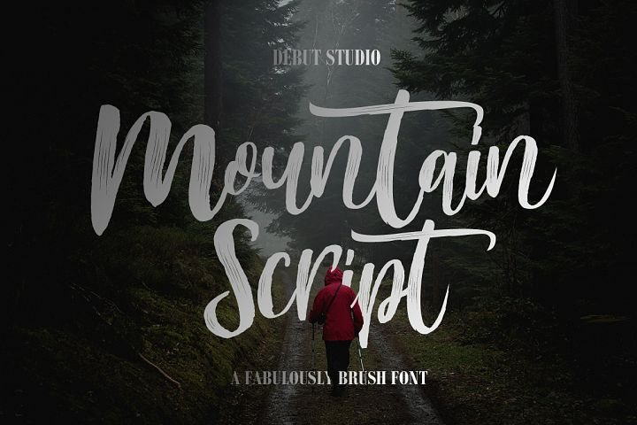 Mountain Script - Brush Fonts