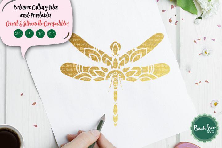Dragonfly Mandala SVG Cut File, Dragonfly SVG, Decal Stencil