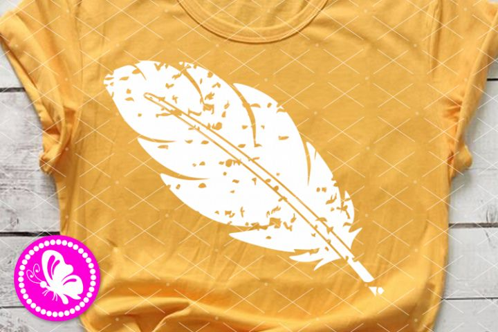 Feather svg clipart Grunge shirt cuttable Hippie Peace Love