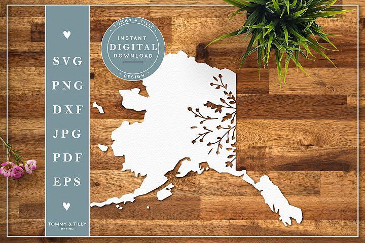 Alaska State - Cut File | Papercut Template | SVG