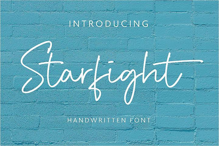 Starfight | Handwritten Font