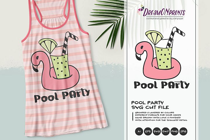Pool Party | Summer Cocktails SVG | Flamingo