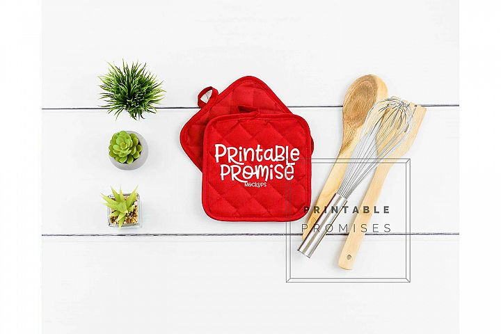 Potholder Mockup Pot Holder Mock up Kitchen Mockup