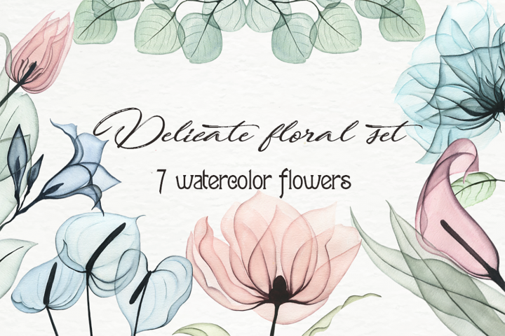 Delicate floral set