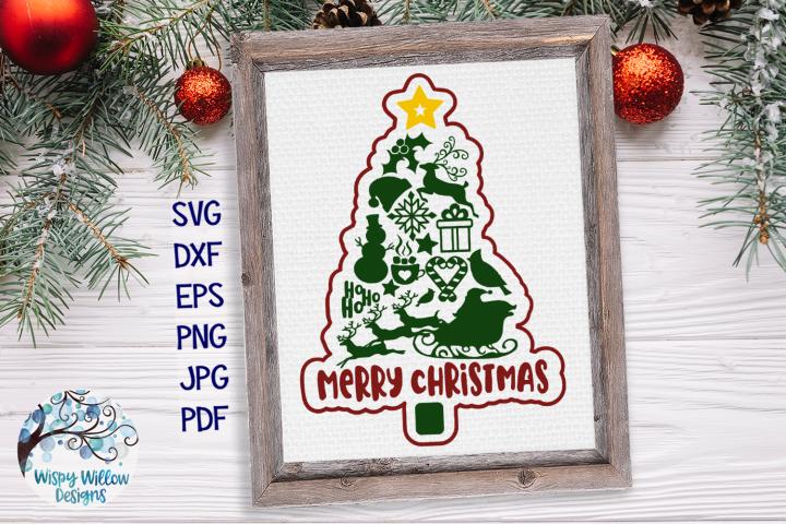 Merry Christmas Tree SVG | Christmas Tree SVG Cut File