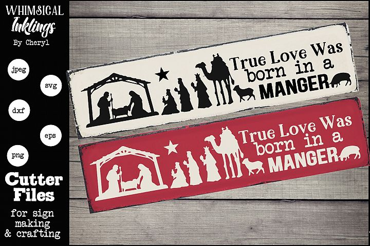 In A Manger-Nativity SVG