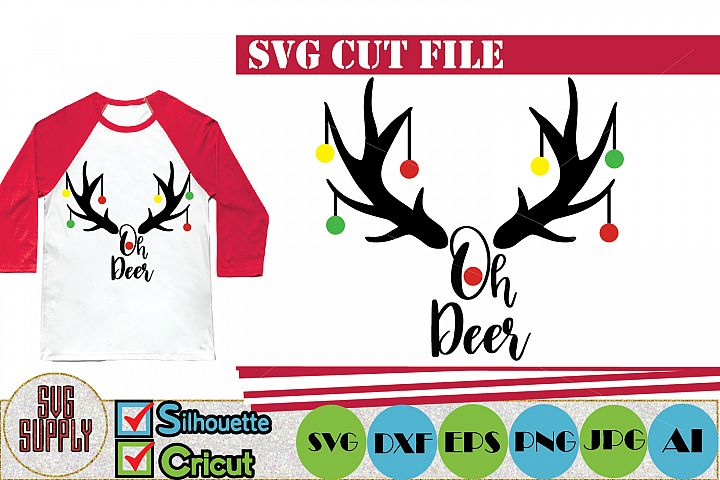 Oh Deer Christmas SVG Cut File