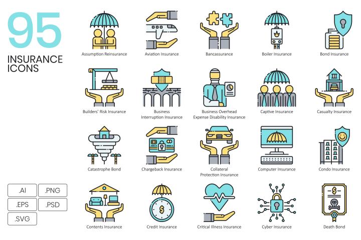 95 Insurance Icons Aqua Series