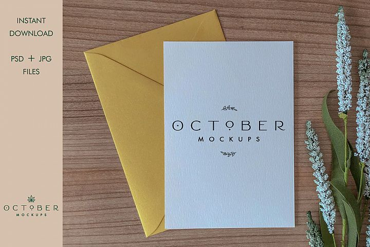 Mockup card & envelope | Invitation mockup | wedding card