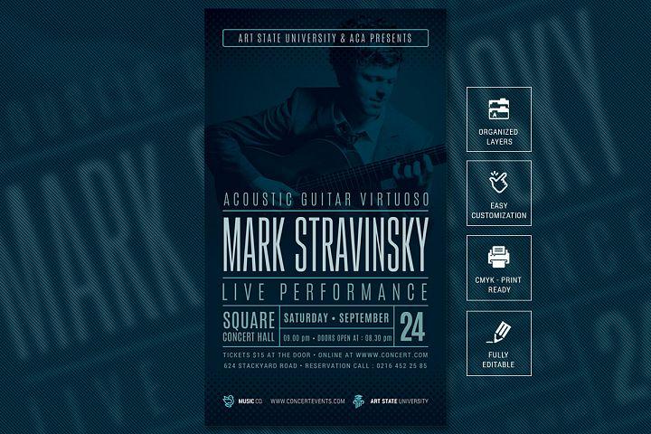 Guitar Concert / Recital Poster