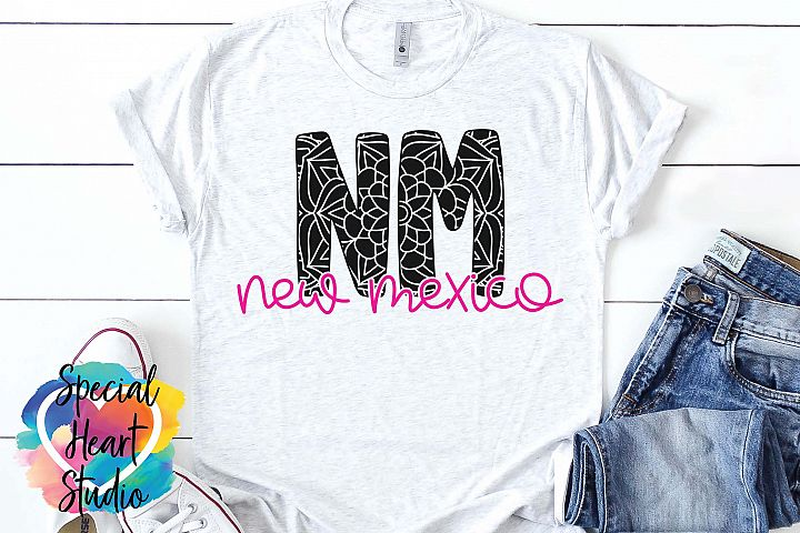 New Mexico Mandala - A State SVG Cut File