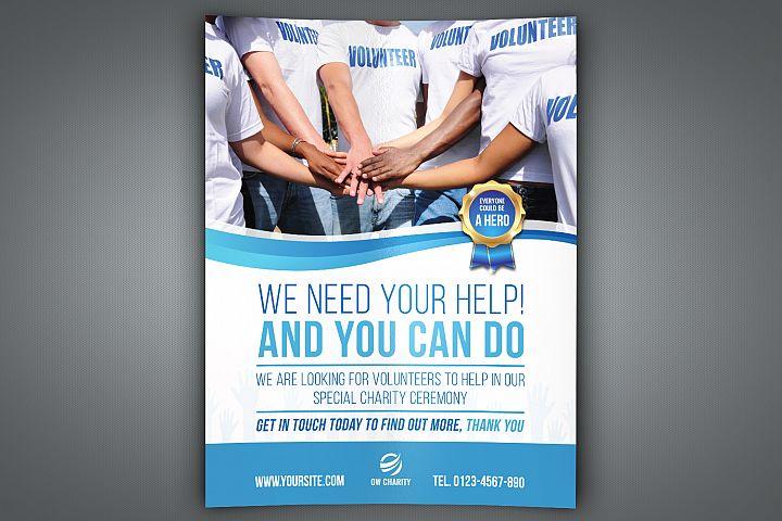 Volunteer Charity Flyer Template