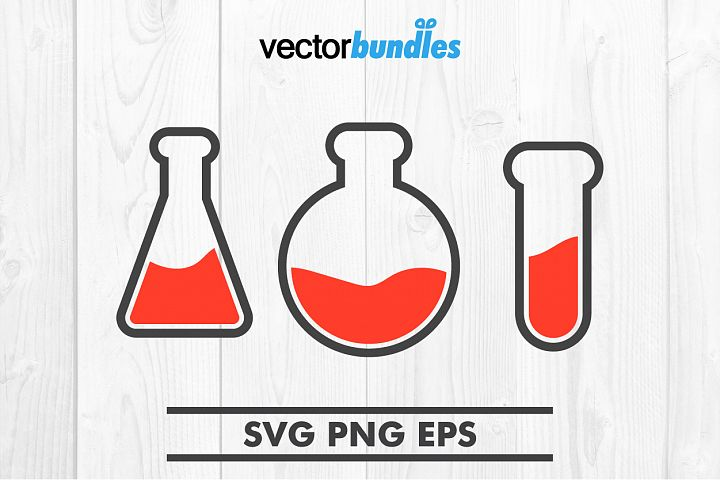 Laboratory flask tube clip art svg