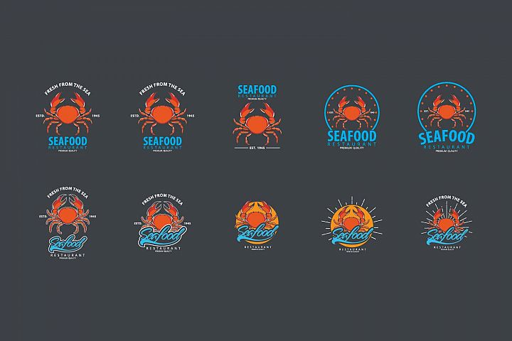 Seafood logo template