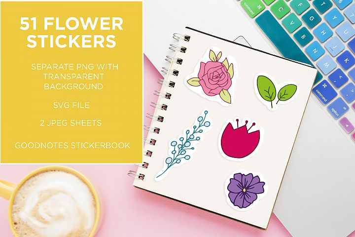 Spring Flowers | Clip Art | Stickers & SVG cut file