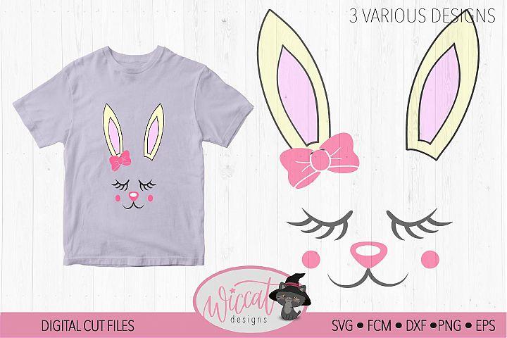 Easter bunny, Bunny svg, Bunny face svg, Girl bunny face svg