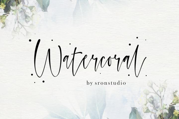 Watercoral // Natural Script Font