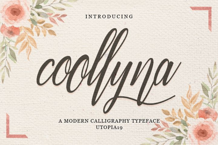 Coollyna Script |Modern Calligraphy Typeface