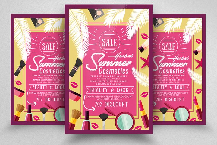 Summer Cosmetic Sale Off er Flyer