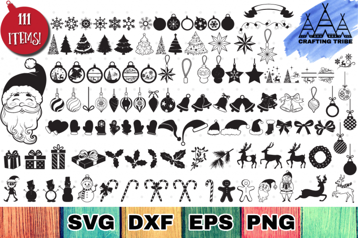 The Huge Christmas SVG Bundle with 111 Cut Files