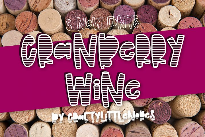 Cranberry Wine - A Striped Font Family of 6 New Fonts!