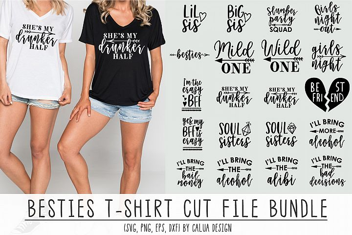 Besties T-shirt Cut File Bundle