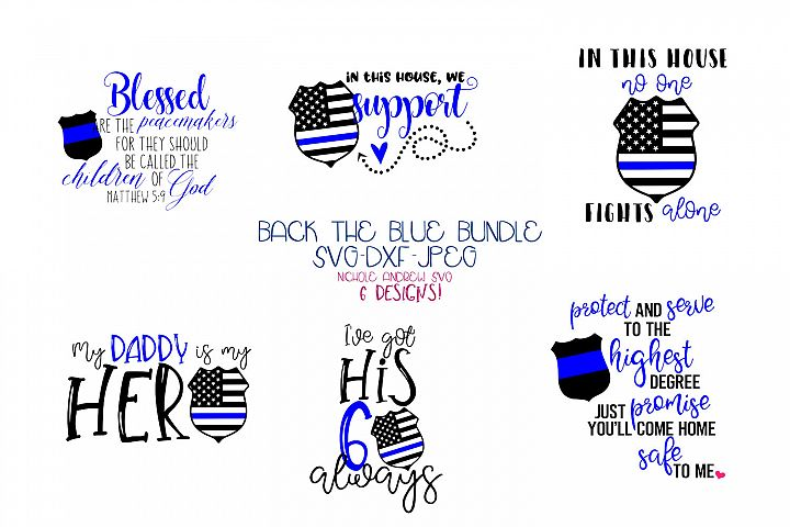 Back the blue - Police SVG bundle for Crafters