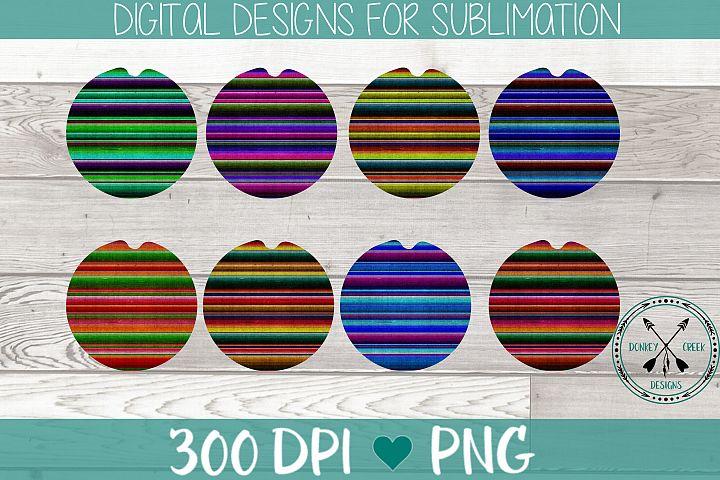 Car Coaster sublimation Template Bundle-serape pattern PNG