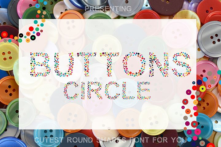 Button Circle - A Simple Round Font