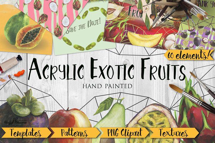 Acrylic Exotic Fruits Big Set