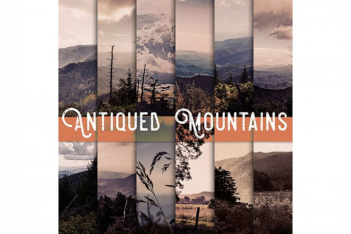 antiqued Mountains