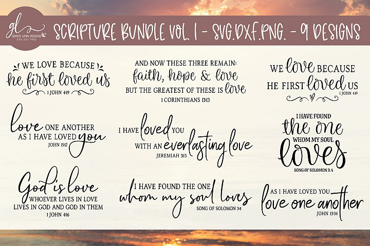 Scripture Bundle Vol. 1 - SVG Cut Files - 9 Designs