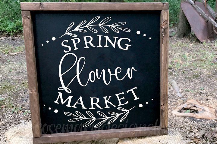 Spring Flower Market SVG