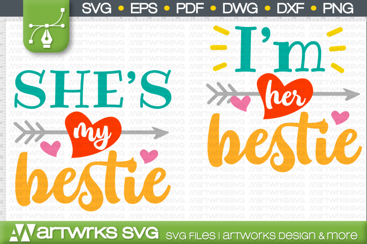Best friend gift SVG files for Cricut | Shes my bestie