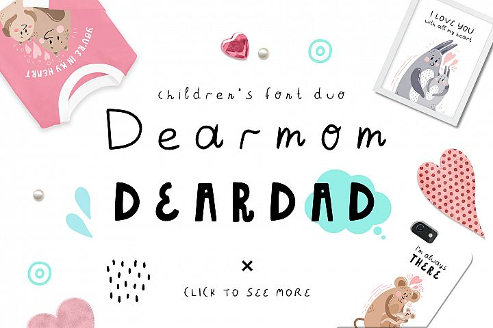 Dearmom and Deardad - Childrens font