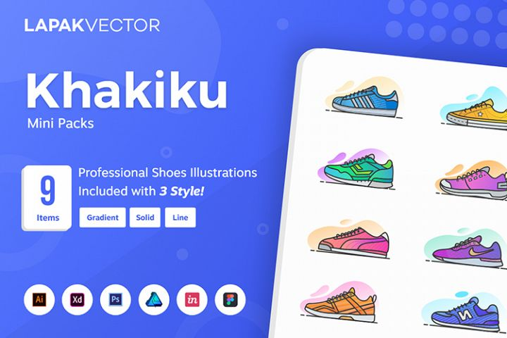 Khakiku - Shoes Illustration
