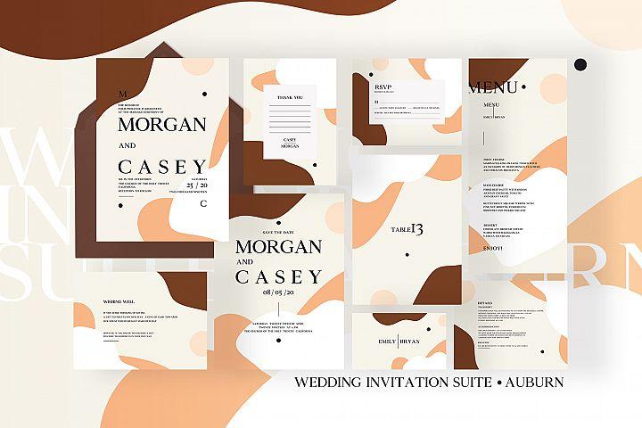 Wedding Invitation Suite - Auburn