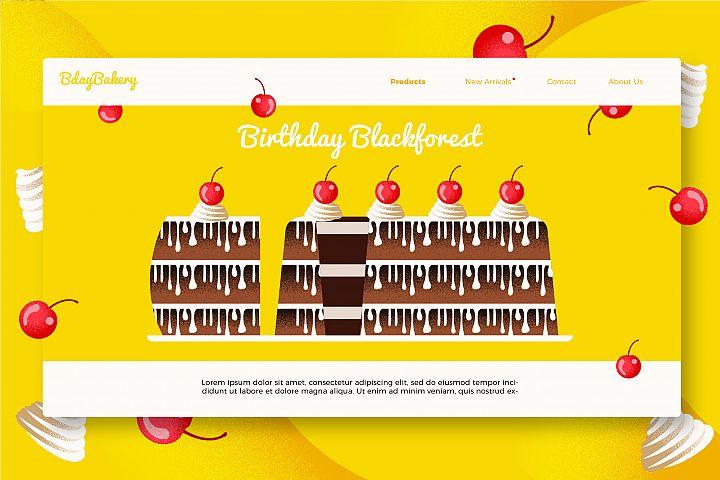 Birthday Cake - Banner &Landing Page