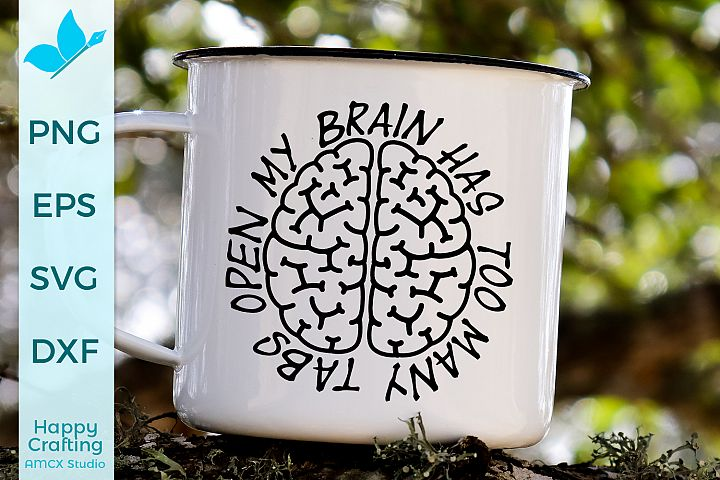 My brain Craft SVG example