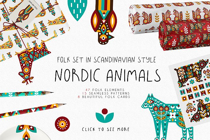 Nordic Animals - Folk Set