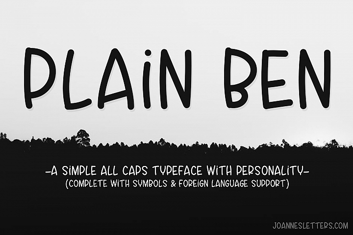 Plain Ben A Simple All Caps Typeface With Personality