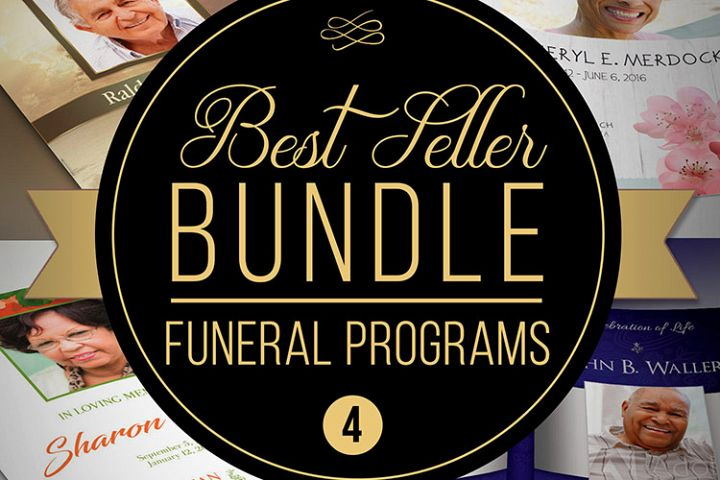 Best Seller Funeral Program Template Bundle