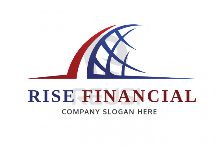Rise Financial Logo Template