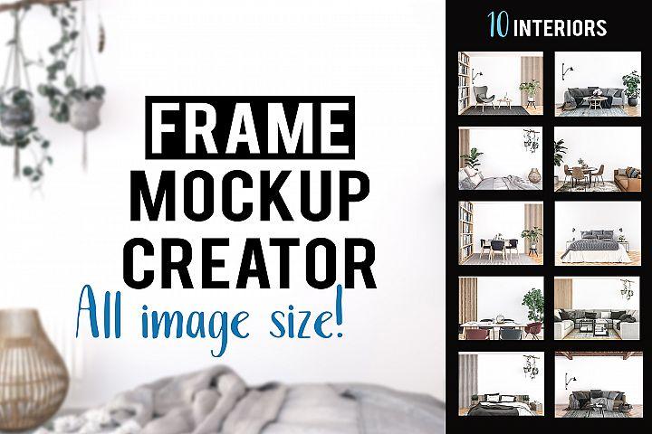 Frame mockup bundle - All image size - Interior mockup