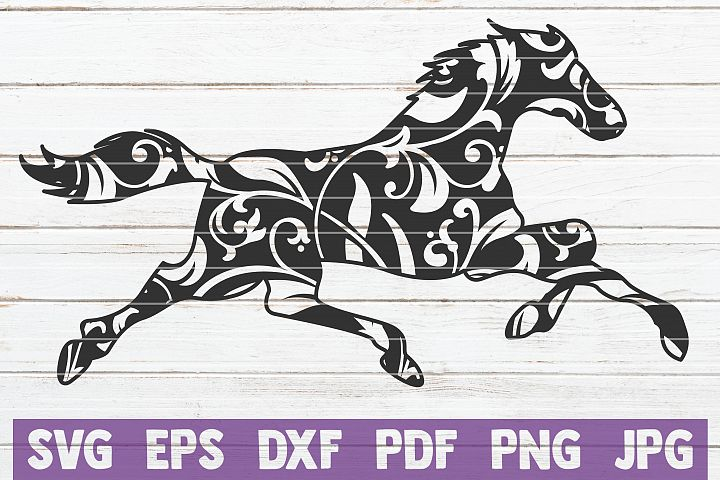 Mandala Horse SVG Cut File | commercial use