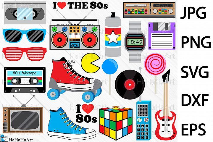 I Love The 80s Designs - Clip art / Cutting Files 98c