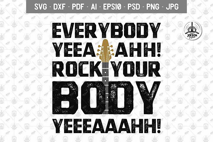 Music Retro T-Shirt Everybody Rock Body Backstreet SVG File